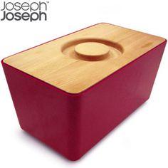 Joseph Joseph Bread Bin Red