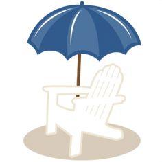 beach chair, svg file, clipart