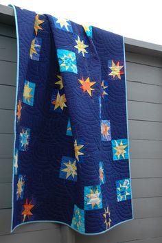 november, novemb star, guest bedrooms, stars, star quilts, hand quilting, quilt idea, the navy, deep blue