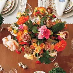 Colorful, loosely arranged flowers are beautiful and easy to make for the novice.