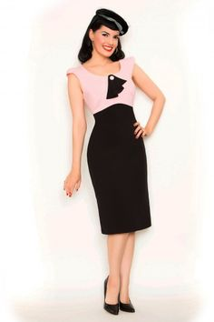 Rock Steady Clothing - 40s Eve dress in pink and black