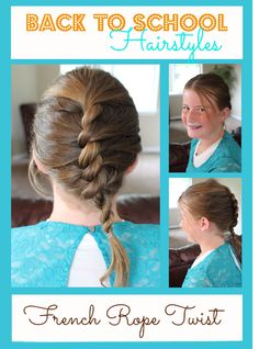 We are getting ready for Back to School with Back to School Hairstyles for girls! Fast and easy hairstyles you can do in very little time.