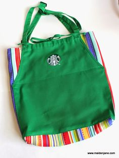 Maiden Jane: Tote Bag Made from Upcycled Starbucks Aprons