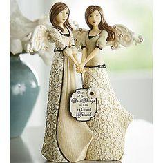 Good Friends Angel Pair Figurine #FriendshipDay