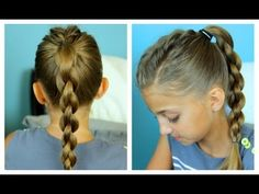 Single Frenchback into 3D Round Braid | Easy Hairstyles