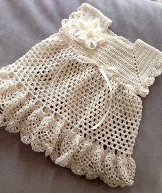Vestido de crochet.