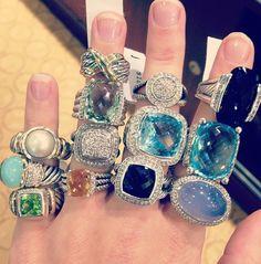 David Yurman rings ..... ohhhh