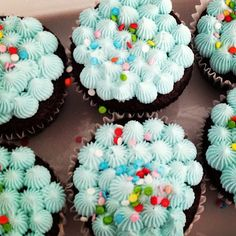 Bubble Guppies Cupcakes with Cotton Candy Buttercream