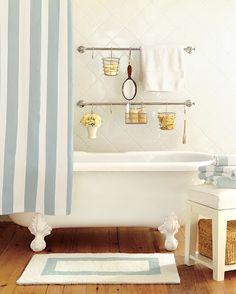 Google Image Result for http://3.bp.blogspot.com/-H7fI0Njdoy8/T5WfuLzoThI/AAAAAAAAIcc/_5HNJgpO3ZI/s1600/rustic-cottage-decor-style-cabin-wooden-flooring-bath-vintage-style-bathtub-quaint-simple-sea-foam-striped-theme-idea-inspiration.jpg
