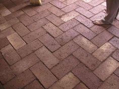 DIY Brick Floor for the kitchen.