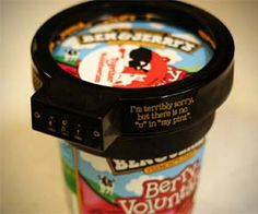 Because sometimes you really don't want to share // Ice cream lock