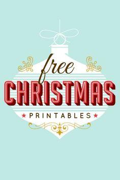 200 Free Christmas Printables www.spaceshipsandlaserbeams.com