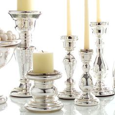 Mecury glass with Ivory..lovely