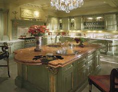 Custom Luxury Kitchen in French Country Green