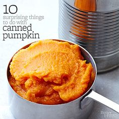 Canned Pumpkin, Who-Knew Recipes