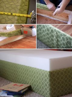DIY Toddler bed.  Could also do for an adult boxspring.