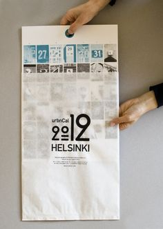 Poster and accompanying branded envelope