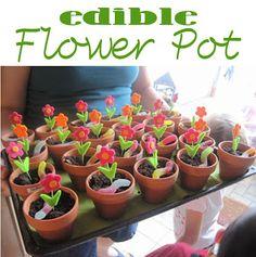 Edible flower pots