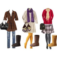 Ideas for what to wear with Uggs.
