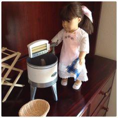 American Girl Samantha with Kit's Washday Set
