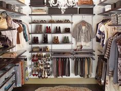 How to Make Your Walk-In Closet Resemble a Chic Boutique : Rooms : Home & Garden Television