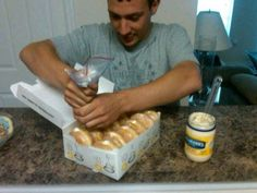 And for an impossibly cruel prank, fill doughnuts with mayo.
