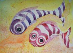 Una idea, mucho arte Peces para Sara Acuarela sobre papel Gvarro Peces para Sara Acuarela sobre papel Gvarro Autora Antonia G. Sousa
