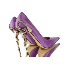 Purple snake shoes found on Polyvore
