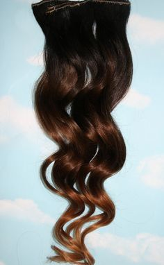 Black/Brown Ombre Hair Extensions - Love the gradual fade