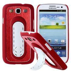 SIII Bend Stand (Punainen) Samsung Galaxy S3 Suojakuori