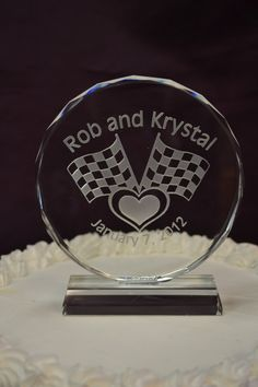 racing themed cake toppers | Nascar Racing Crystal Cake Topper | Fairy Tale Wedding & More, LLC.
