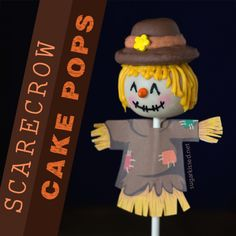 How To Make Scarecrow Thanksgiving Cake Pops