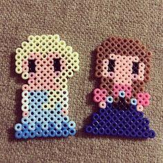Elsa and Anna - Frozen perler beads by perler0_0