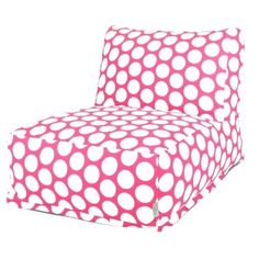 Amazon.com: Majestic Home Goods Hot Pink and White French Quarter Bean Bag Chair Lounger: Home & Kitchen