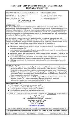Job Posting - Policy Advisor