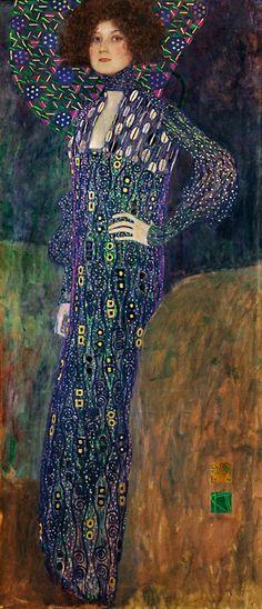 Portrait of Emilie Flöge(1902) by Gustav Klimt