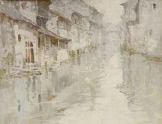 """Su Zhou, Shen Chen, 1979 (Gouache on Etching Paper, 15"""" X 20"""")"""