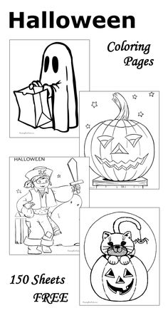 Free Halloween Coloring Pages for the Kids! #crafts #diy