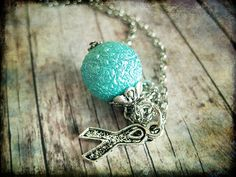 PCOS Teal Awareness Necklace