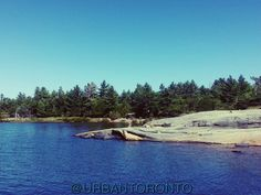 """Beautiful #Georgian Bay,  #Ontario. Us #Toronto city dwellers like to """"go to the #cottage"""" on weekends during the summer. This is what we can see a few hundred miles north of the city."""