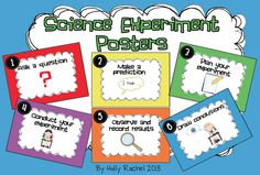 """FREE SCIENCE LESSON - """"Science Experiment Posters"""" - Go to The Best of Teacher Entrepreneurs for this and hundreds of free lessons.  1st - 5th Grade  #FreeLesson   #TeachersPayTeachers   #TPT   #Science   http://www.thebestofteacherentrepreneurs.net/2013/11/free-science-lesson-science-experiment.html"""