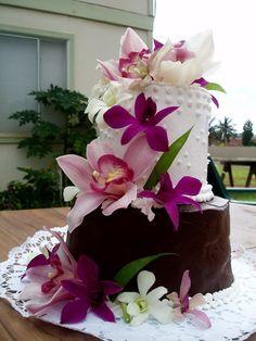 tropical wedding cake ...