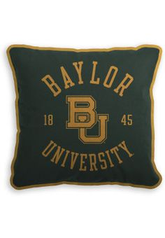 Fleece #Baylor University pillow ($36.00 at Baylor Bookstore)