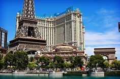 great shot of the Paris Hotel in Las Vegas