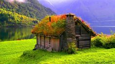Grass Roof House, Norway.