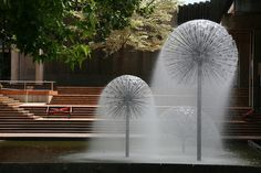 'Dandelion' fountains Christchurch, New Zealand