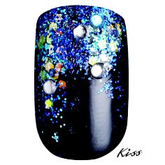 "Created Using #KissProducts Disney Villains Nail Art Kit in ""Ursula""."