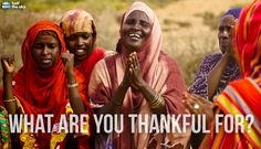 On this day of thanks, we'd like to thank you for supporting the Half the Sky Movement and joining with us to achieving a freer, fairer and safer world. What are you thankful for?