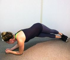 FERGIE'S WORKOUT HIP SWIVEL Get into a plank, resting on forearms, hands clasped. Lift butt toward ceiling while rotating left hip toward floor; return to plank. Repeat on right side for 1 rep. Do 3 sets of 20. Admire your rock-star abs in the mirror.
