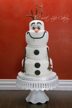 cakes with fondant, olaf cake, kid birthdays, fondant cakes birthday, birthday kids